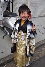 七五三 袴を着た男の子 エクステ