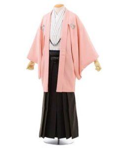 ピンクの羽織 黒の袴 メンズ