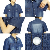 デニム半袖シャツ メンズ