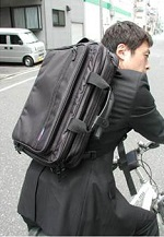 自転車通勤 ビジネスバッグ