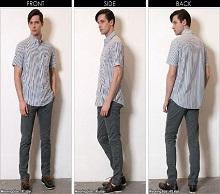 コットンシャツ スラックス 男性