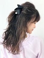 ハーフアップ 髪型アレンジ