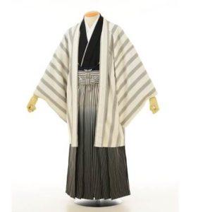 白系の羽織 黒系の袴 メンズ