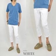 ストレッチアンクルパンツ ブルーのTシャツ メンズ
