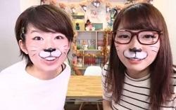 猫メイクの女性2人