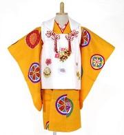 黄色系の女の子の着物