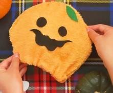 オレンジ フェイスタオル ハロウィン かぼちゃ 完成
