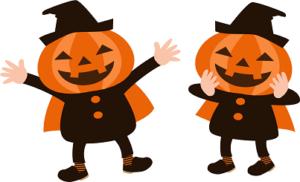 ハロウィン かぼちゃ 衣装 イラスト
