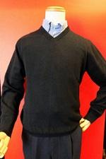 黒のカシミヤセーター メンズ
