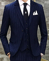 スマートカジュアル スーツ ネイビー 男性