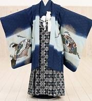 紺の和柄の袴 男の子用