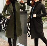シックなデザインのコート 女性