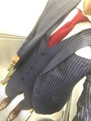 男性 スーツ ストライプ