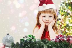 クリスマス サンタの格好をした女の子
