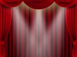 舞台を照らすスポットライト イラスト