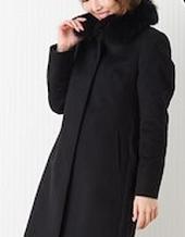 黒のカシミヤコート 女性
