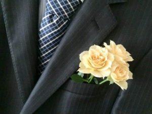 スーツ バラ