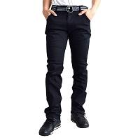ストレートパンツ 黒 メンズ