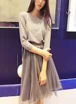 ツーピースドレス 女性