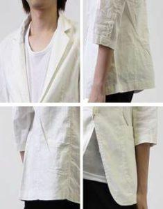 メンズ 七分袖ジャケット