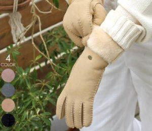 革の手袋 冬用 レディース