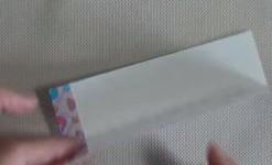 折った折り紙を開く