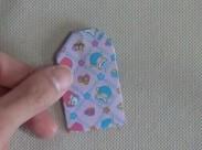 折り紙て作ったお守り