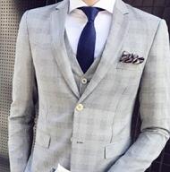 スマートカジュアル スーツ グレー メンズ