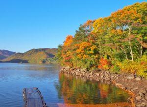 桧原湖 紅葉