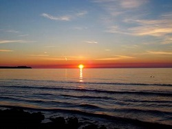 海辺の日の出