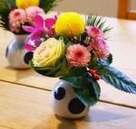 生花で作ったお正月飾り