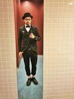 黒 披露宴 スーツ コーデ ハット