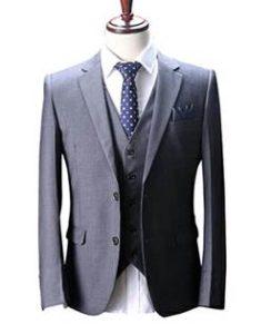 メンズスーツ グレー 水玉ネクタイ