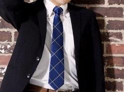 ネクタイ 濃いブルー