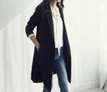 黒のロングテーラードジャケット