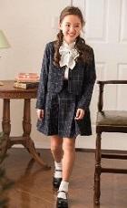 女の子 チェック柄スーツ デザインシャツ 入学式