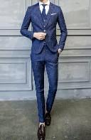 ネイビー スーツ ツィード