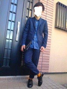 男性 ファッション ネイビーコーデ