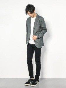 男性 ファッション グレージャケット
