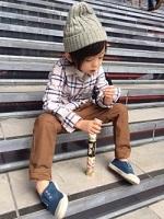 男の子 コーデ ニット帽