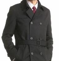 黒のコート 男性