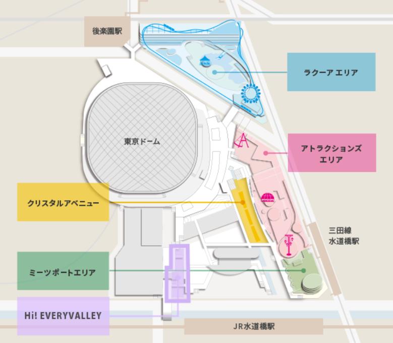 東京ドームシティ イルミネーションエリア マップ
