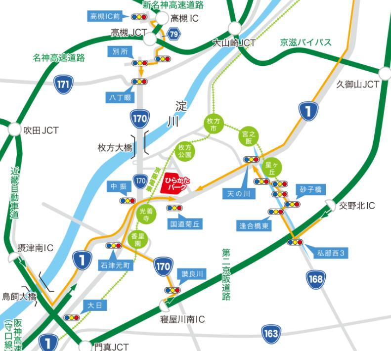 ひらかたパーク アクセス 地図