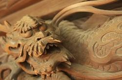 柴又帝釈天 龍の彫刻