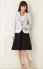 スカートスーツ 入園式 ママ