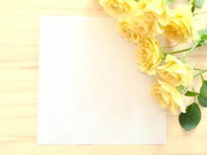 手紙 黄色いバラ