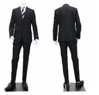 男性 先生 卒園式 黒のスーツ