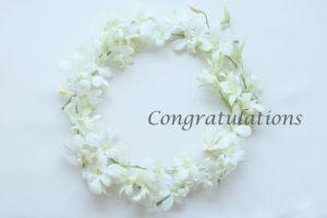 花輪 congratulations