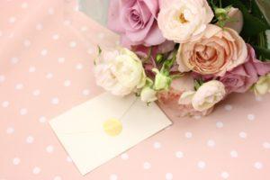 花束 手紙