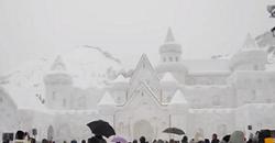 只見ふるさとの雪まつり 大雪像